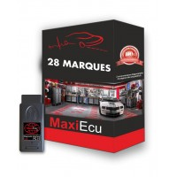 Kit pro MPM-COM avec MAXIECU 2 en version complète (28 marques couvertes) + Prolongateur OBD et clé USB offerts !