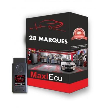 Kit pro MPM-COM avec MAXIECU 2 en version complète (28 marques couvertes) + Prolongateur OBD offert !